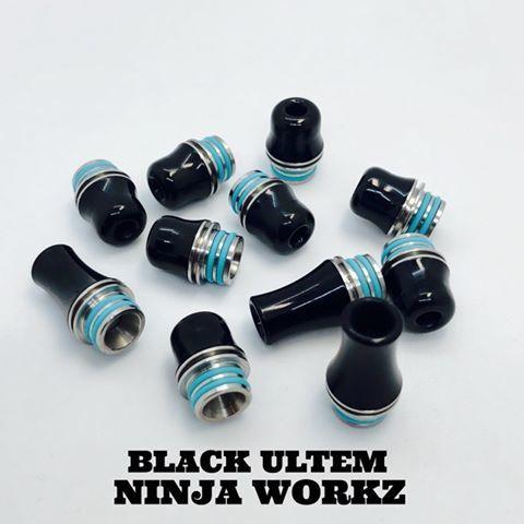 テーパード仕上げ つるんっとした 口当たりの良いドリチです ニンジャワークス NINJA 人気 おすすめ 期間限定の激安セール WORKZ BLACK ブラック ULTEM 510 Tip Drip ウルテム ドリップチップ