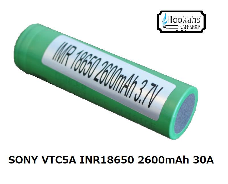 Sony INR18650 VTC5A 2600mAh Li-INR ブランド買うならブランドオフ 30A Pulse-60A INRバッテリー SONY リチウムイオンニッケルバッテリー フラッシュライト 投光器 セットアップ 正規品