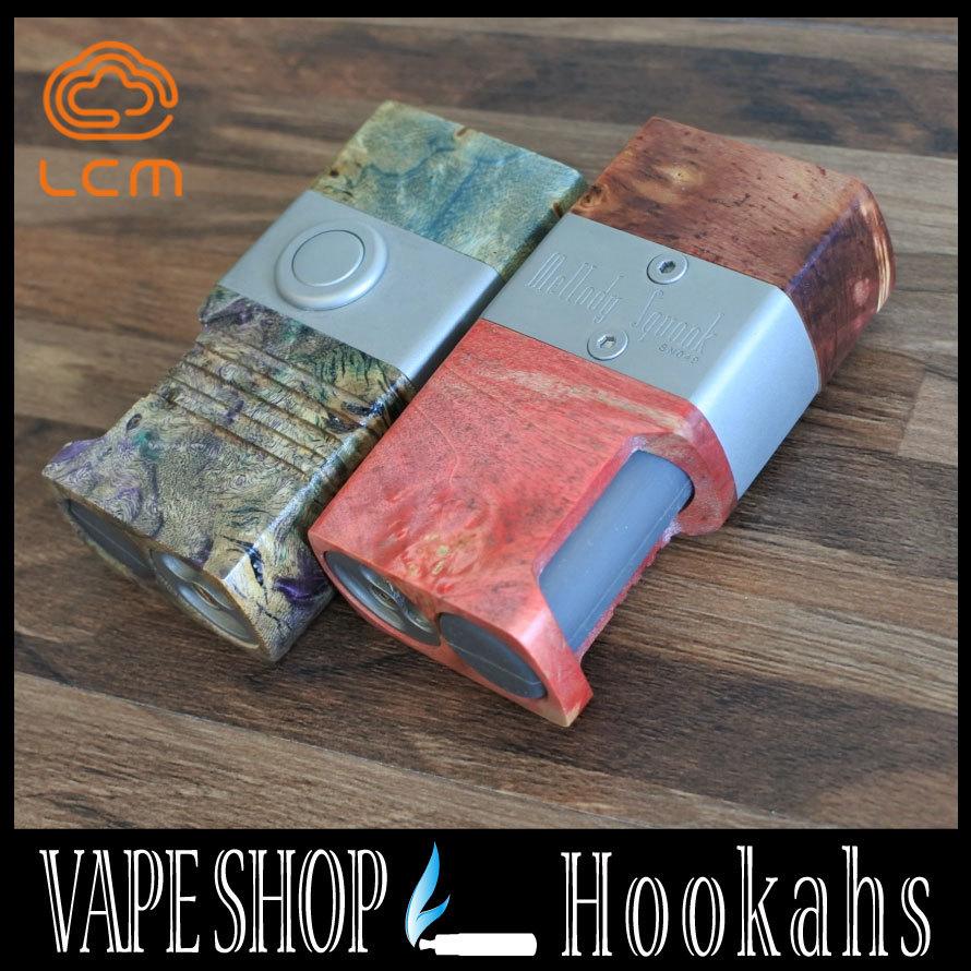 【電子タバコ用本体】Mellody Squonker Stabilized wood Box 18650バッテリー【VAPE】【e-cigs】【MOD】【セミメカニカル】【ハイエンド】