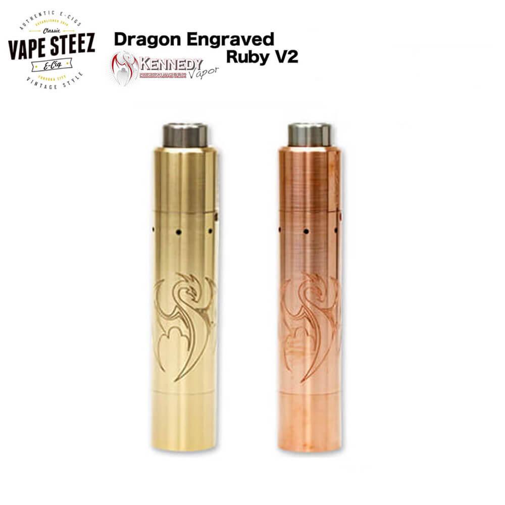 電子タバコ スターターキット Kennedy Vapor Dragon Engraved Ruby V2 Kit 【 電子タバコ 】【 メカニカル 】【 VAPE 】