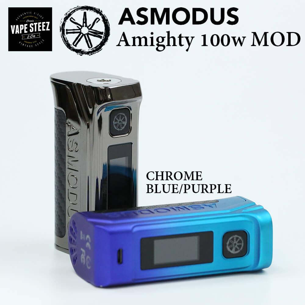 AMIGHTY BOX アマイティ VAPE 】【 】 アズモダス GX-100UTC チップ搭載【 100W タッチパネル ASMODUS 】【 電子タバコ バッテリー MOD