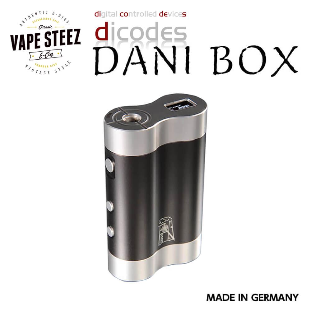高性能 電子タバコ MOD dicodes DANI BOX V2 80W ハイエンド テクニカルMOD 温度管理機能 多彩なモード搭載