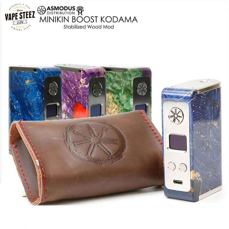 asMODus MINIKIN BOOST KODAMA Version Stabilized Wood MOD 180W Box Mod 電子タバコ タッチスクリーン 正規品 スタビウッド
