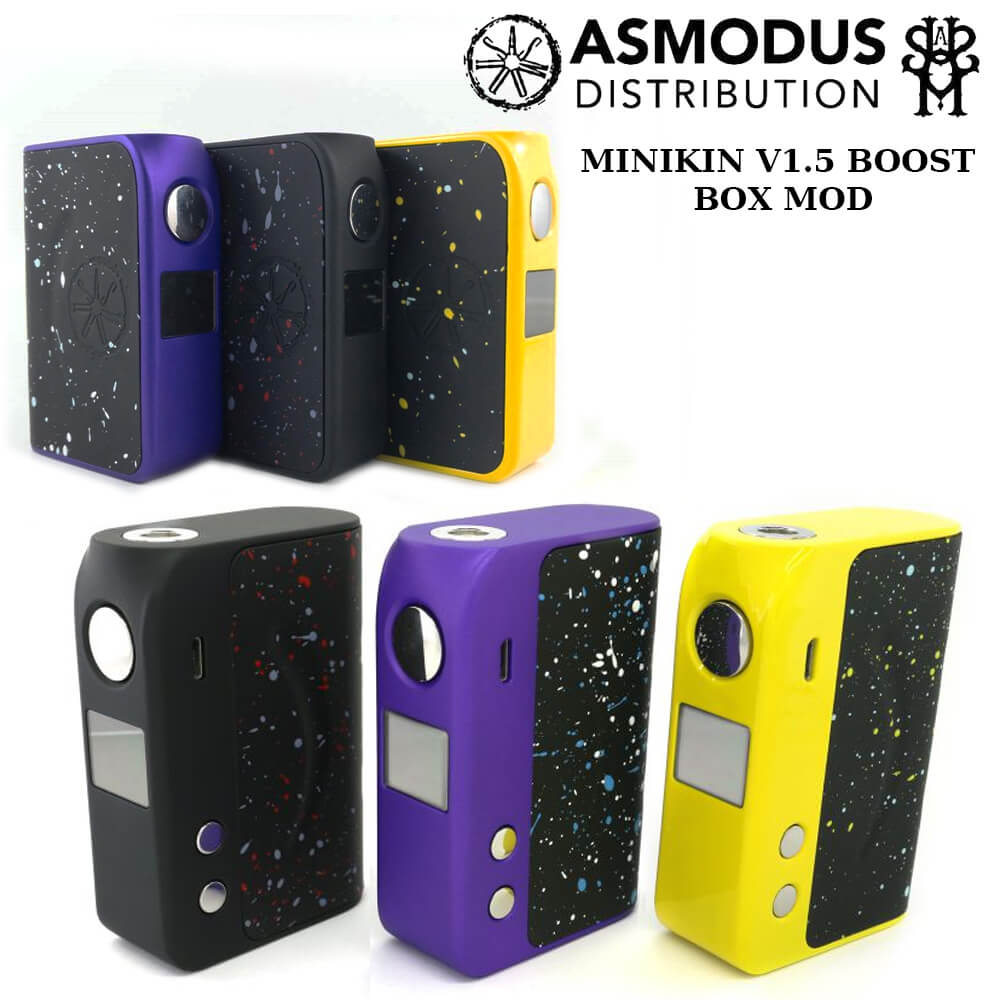 【送料無料 あす楽 】asMODus MINIKIN V1.5 BOOST BOX MOD アズモダス ミニキン ブースト 最大出力155W 電子タバコ MOD VAPE MADE in USA