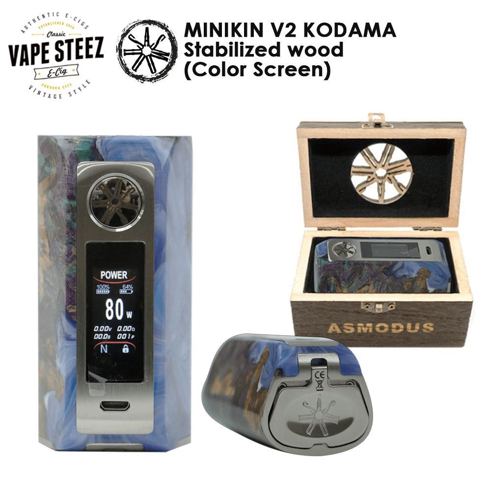 電子タバコ バッテリー MOD ASMODUS MINIKIN (ミニキン) V2 KODAMA Stabilized Wood Color Screen タッチスクリーン 正規品 スタビウッド 【 180W VAPE デュアルバッテリー 高級MOD 】【カラースクリーン】