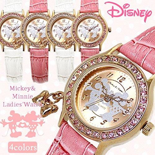 ディズニー/Disney ミッキー&ミニー ラブキッス腕時計 ピンク×クリスタル NFC130514 【YDKG-kd】【smtb-KD】[バレンタイン][時計][ギフト][定形外郵便、、代引不可]