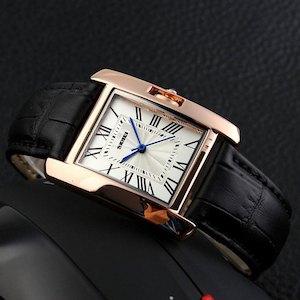 SKMEI 腕時計 ブラック レディース アナログ ビジネス 革ベルト レクタンギュラーケース  f0510-107a[メール便発送、、代引不可][時計][ギフト] 02P03Dec16 【YDKG-kd】【smtb-KD】