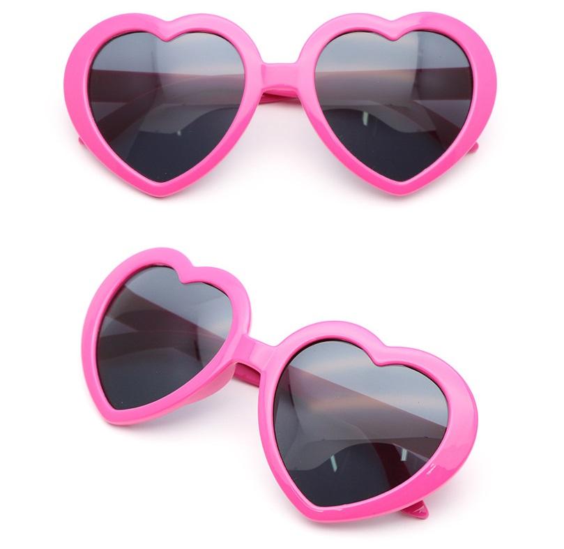 【全商品送料無料】(一部地域を除く) 面白サングラス UVカット ハートサングラス ハート型 眼鏡 めがね メガネ コスプレ パーティー (ローズピンク)[定形外郵便、送料無料、代引不可]