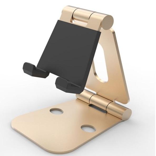 スマホ タブレット スタンド 270°角度調節可能 折りたたみ iPad iPhone ホルダー 置き台 (ゴールド)[ゆうパケット発送、送料無料、代引不可]