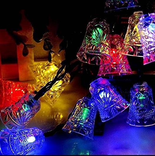 【全商品送料無料】(一部地域を除く) LEDチャイム 20連 カラフル 《電池式》 クリスマスツリー イルミネーション【smtb-KD】[クリスマス][照明][定形外郵便、送料無料、代引不可]