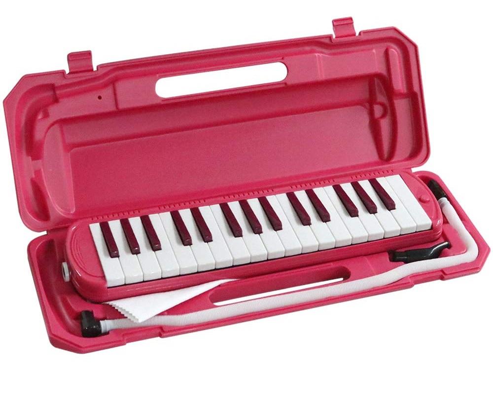 全商品送料無料 一部地域を除く KC キョーリツ 鍵盤ハーモニカ メロディピアノ 32鍵 お名前シール付き 贈呈 P3001-32K VPK ファッション通販 クロス ビビッドピンク 送料無料 ドレミ表記シール