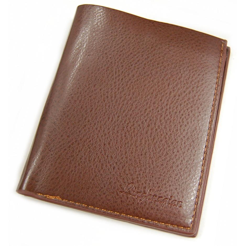 【全商品送料無料】(一部地域を除く) メンズ 二つ折り財布 縦型 レザー調 財布 カード入れ カード収納 札入れ 定期入れ シンプル ビジネス (ブラウン)[定形外郵便、送料無料、代引不可]