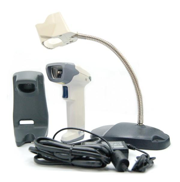 [中古品]デンソー 2次元無線式リーダー Bluetooth バーコードリーダー AT27Q-SB(本体+充電器&ACアダプタセット+専用スタンド)[送料無料(一部地域を除く)]
