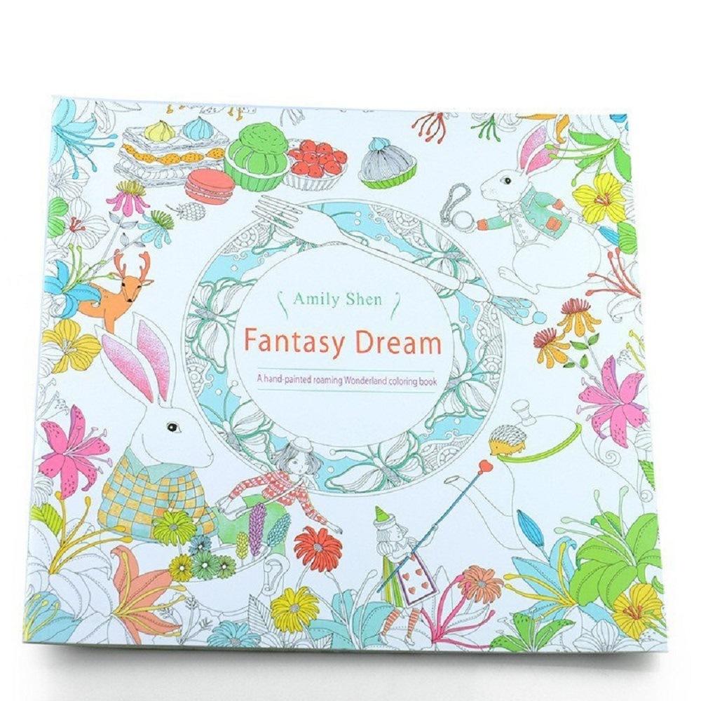 全商品送料無料 誕生日プレゼント 一部地域を除く 塗り絵 Fantasy Dream 大人のぬりえ 激安通販 定形外郵便 代引不可 ファンタジードリーム 送料無料 smtb-KD