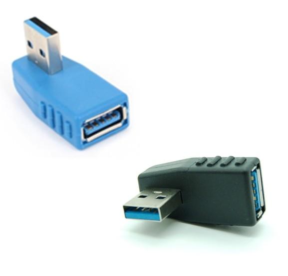 訳あり品送料無料 全商品送料無料 買物 一部地域を除く USB3.0 方向変換アダプター 《左向き》 90度 送料無料 Aメス-Aオス 定形外郵便 代引不可