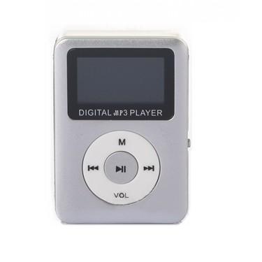 高品質 全商品送料無料 一部地域を除く お得 ミニ MP3プレーヤー 《シルバー》 小型 定形外郵便 代引不可 デジタルオーディオプレーヤー コンパクト microSDカード式 送料無料