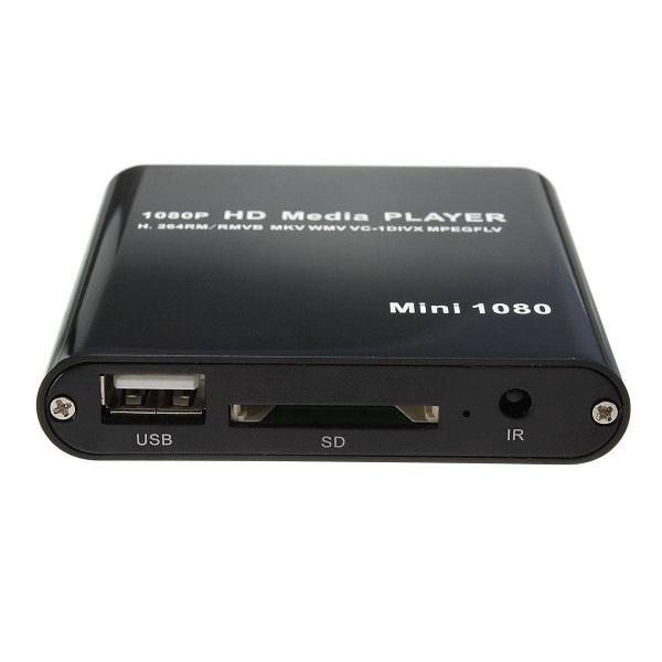超小型 多機能 ポータブルメディアプレーヤー ブラック 小型 映像 高画質 再生[送料無料(一部地域を除く)]