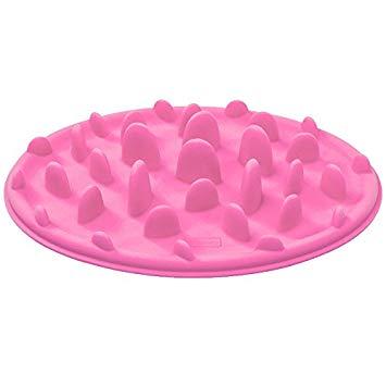 ペット 早食い防止 フードボウル シリコン Sサイズ ピンク 犬 猫 食器 皿[定形外郵便、送料無料、代引不可]