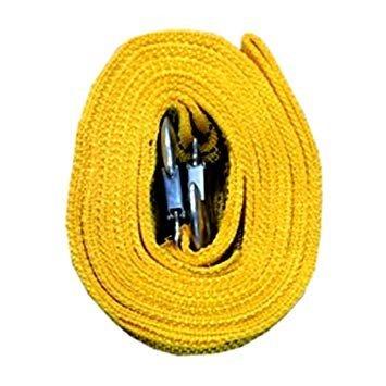全商品送料無料 一部地域を除く フック式 牽引 補助ロープ 評価 4m 緊急 レスキューロープ 牽引ロープ 5☆大好評 5トン車対応 送料無料