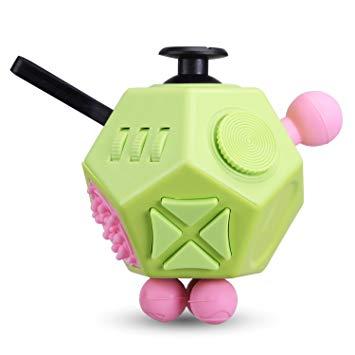 プレゼント 全商品送料無料 一部地域を除く 12面 フィジェットキューブ Fidget Cube フィジェットトイ 特価キャンペーン 代引不可 無限キューブ 送料無料 グリーン ストレス解消キューブ 定形外郵便
