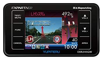 _[訳あり]ユピテル◆GPS搭載レーダー探知機◆EXR245GW [レーダー][送料無料(一部地域を除く)]