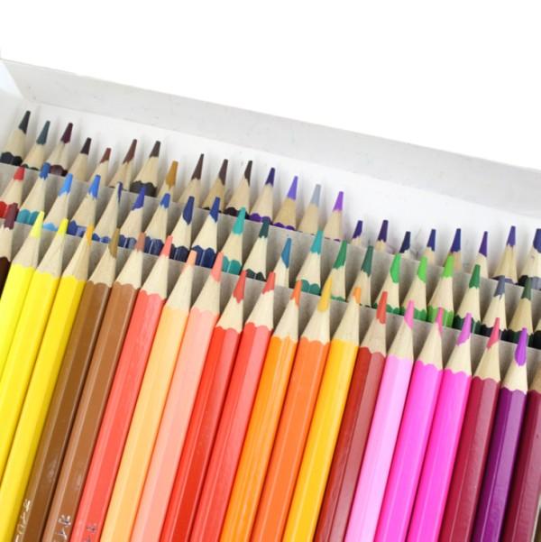 【全商品送料無料】(一部地域を除く) 油性色鉛筆セット 72色 六角形 油性 色鉛筆 塗り絵 イラスト[ゆうパケット発送、送料無料、代引不可]