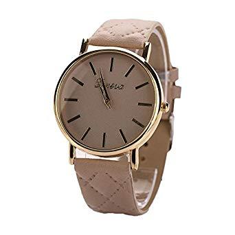 【全商品送料無料】(一部地域を除く) レディース腕時計 シンプル おしゃれ ビジネス クラシック クォーツ 時計 (ベージュ)[定形外郵便、送料無料、代引不可]