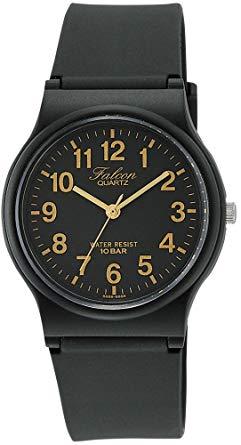 全商品送料無料 一部地域を除く シチズン 出色 キューアンドキュー CITIZEN QQ 腕時計 Falcon 代引不可 定形外郵便 アナログ表示 フォルコン 10気圧防水 VP46-853 送料無料 ブラック×ゴールド 訳あり品送料無料