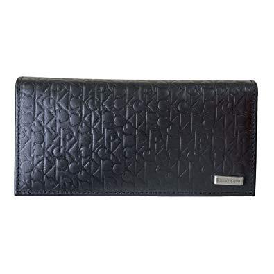 Calvin Klein/カルバンクライン 長財布 型押し ブラック 74283[バレンタイン][財布][ギフト] [送料無料(一部地域を除く)]