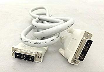 【未使用】シングルリンク DVI-Dケーブル 24(18)pin ホワイト 1.8m【YDKG-kd】【smtb-KD】[ケーブル類][定形外郵便、、代引不可]