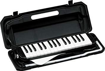 ファッション通販 全商品送料無料 一部地域を除く KC キョーリツ 誕生日プレゼント 鍵盤ハーモニカ メロディピアノ 32鍵 ブラック クロス お名前シール付き 送料無料 BK ドレミ表記シール P3001-32K