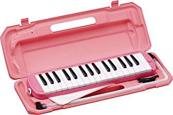 全商品送料無料 一部地域を除く KC キョーリツ 鍵盤ハーモニカ メロディピアノ 32鍵 ギフト プレゼント ご褒美 ピンク P3001-32K 送料無料 クロス ドレミ表記シール お名前シール付き PK 未使用品