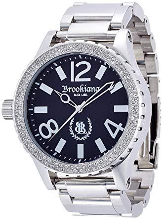ブルッキアーナ BROOKIANA BLACKLABEL ハイポリッシュ加工 クリアジルコニアベゼル クォーツ腕時計 BKL1001-7 メンズ 【YDKG-kd】[時計][ギフト][送料無料(一部地域を除く)]