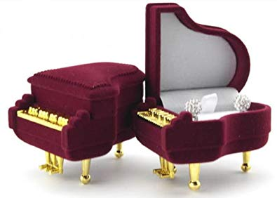 全商品送料無料 一部地域を除く グランドピアノ型 ジュエリーボックス 指輪入れ ブライダルリング 婚約指輪 結婚指輪 プレゼント おトク 返品送料無料 送料無料 定形外郵便 代引不可 ジュエリーケース