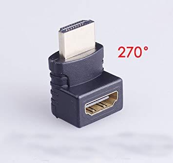 全商品送料無料 一部地域を除く 激安通販販売 HDMI L型アダプタ 270度 上向き HDMIオス-HDMIメス 送料無料 超特価SALE開催 延長アダプタ アダプター 延長コネクタ 代引不可 定形外郵便
