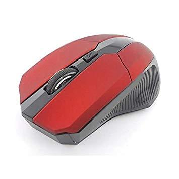 マウス ワイヤレス ゲーミングマウス USB 光学式 4ボタン 2.4G (レッド)[定形外郵便、送料無料、代引不可]