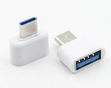 【全商品送料無料】(一部地域を除く) OTG対応 USB-A to USB Type-C 変換アダプタ 《ホワイト》[定形外郵便、送料無料、代引不可]