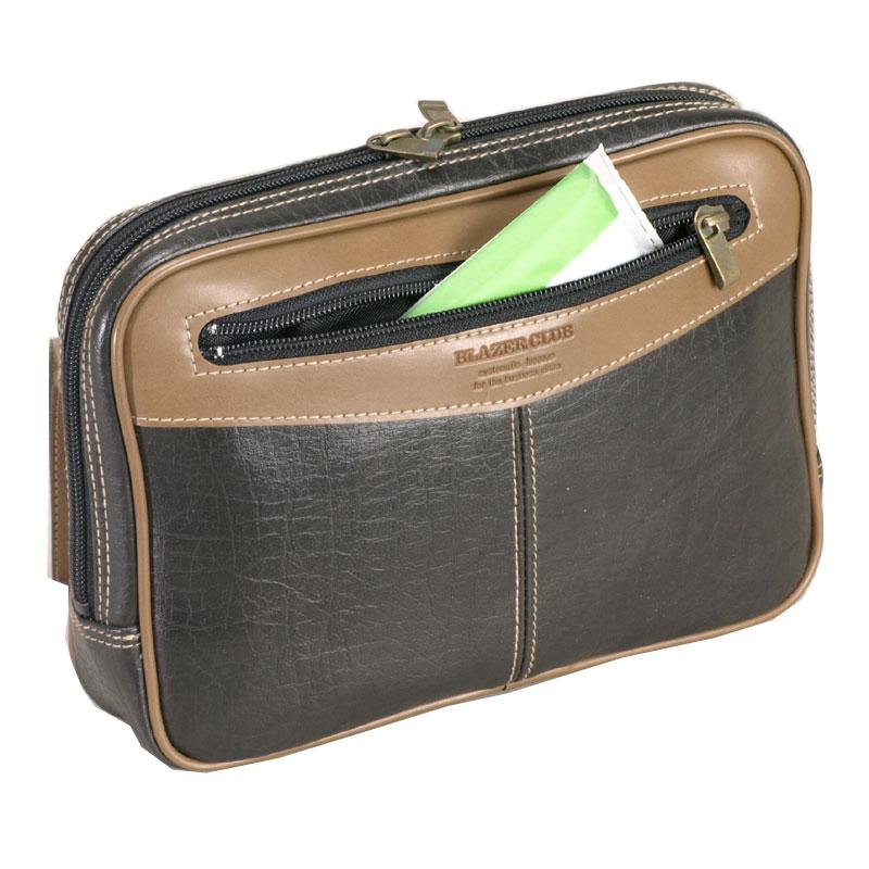 HRBLAZER CLUB ブレザークラブ日本製 豊岡製鞄 セカンドバッグ セカンドポーチ メンズ A5 24cm No25340 01 スミクロバッグ送料無料 一部地域を除くPkwOn08