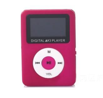 ミニ MP3プレーヤー 安心と信頼 《レッド》 小型 限定品 コンパクト microSDカード式 デジタルオーディオプレーヤー 代引不可 音楽 デジタルオーディオ スピーカー smtb-KD 送料無料 定形外郵便