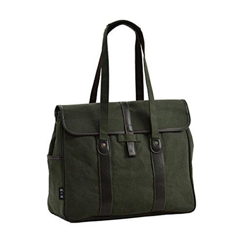 HR★☆鞄の國 日本製 撥水加工 帆布カブセトートバッグ B4F 42cm 26572-02 カーキ[バッグ][送料無料(一部地域を除く)]