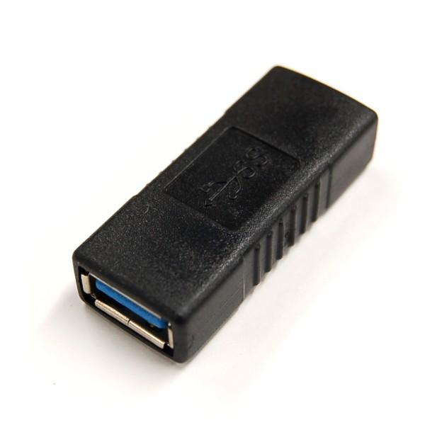 USB3.0 変換アダプター 《ブラック》 A メス 至上 -USB3.0 延長 価格 アダプター 代引不可 コンバータ 送料無料 変換 LY-8013-BK 定形外郵便 smtb-KD