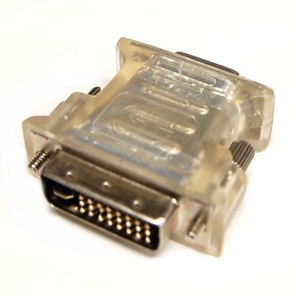新品バルク品 VGA-DVI変換アダプター《クリア》 D-Sub 業界No.1 15pin F - DVI-I 定形外郵便 代引不可 安い 激安 プチプラ 高品質 送料無料 M smtb-KD 29pin その他PC