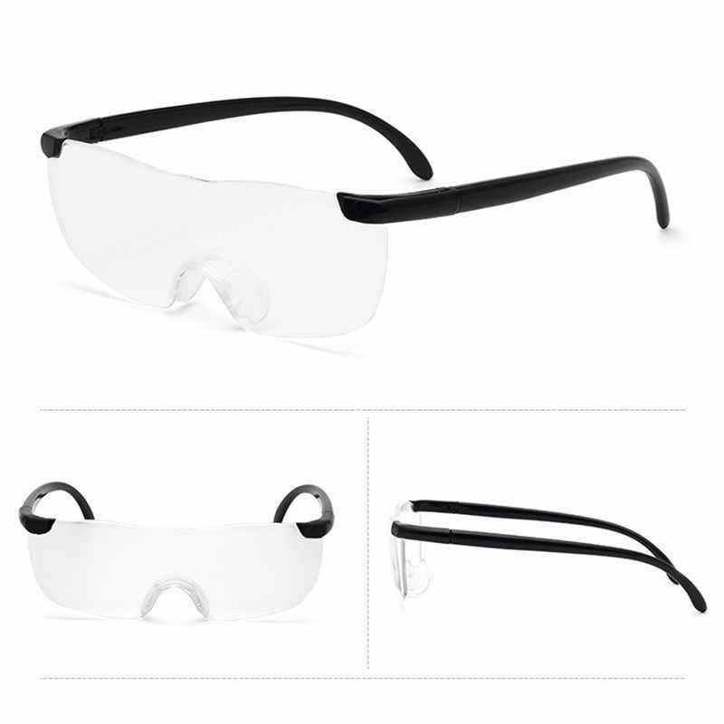 メガネ型ルーペ 1.6倍 拡大鏡 軽量 眼鏡 smtb-KD 送料無料 代引不可 フリーサイズ 期間限定特価品 お気に入 定形外郵便