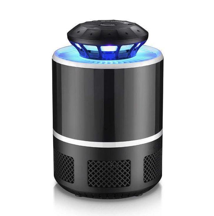 訳ありセール 格安 蚊取り器 UV光源誘引式捕虫器 《ブラック》 USB給電式 未使用 UVライト 静音 吸引ファン 一部地域を除く 送料無料