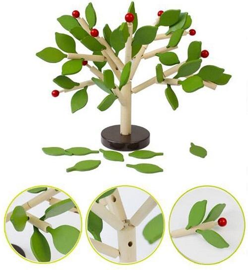 知育玩具 バランスゲーム 木の葉 木のおもちゃ 積み木 送料無料 新色追加して再販 一部地域を除く 特価キャンペーン