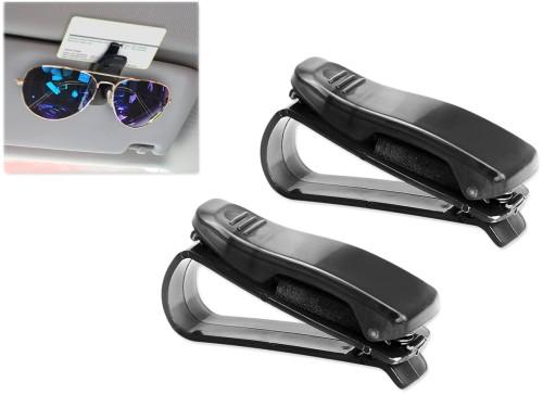 サングラス クリップ 《2個セット》 《ブラック》 車載 眼鏡ホルダー サンバイザー チケットクリップ[定形外郵便、送料無料、代引不可]