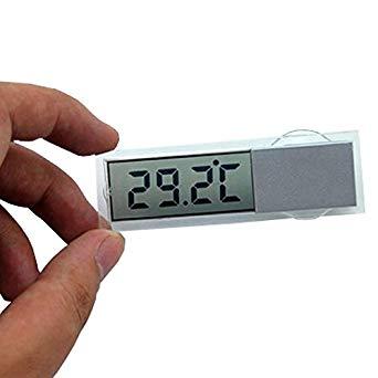 超薄型 デジタル温度計 新商品!新型 吸盤式 車内 キッチン 小型 クリア 時計 送料無料 計測器 smtb-KD 定形外郵便 代引不可 買物 透明