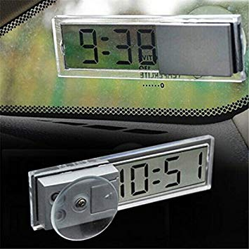 超薄型 デジタル時計 吸盤式 車載 小型 シンプル リビング smtb-KD 送料無料 オンライン限定商品 代引不可 超激得SALE 定形外郵便 キッチン