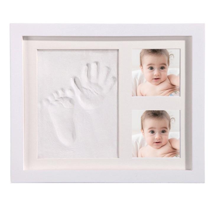 赤ちゃん手形足型 トレジャー フレームカラー《ホワイト》 日本製[送料無料(一部地域を除く)]