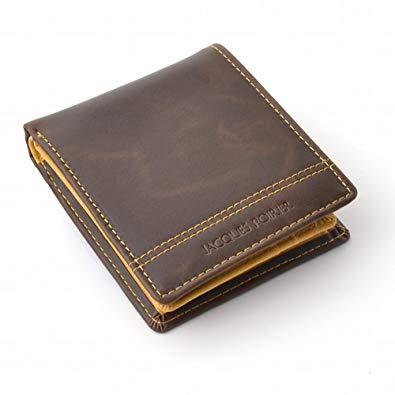 ジャック 爆売り ポワリエ 牛革二つ折り財布-フランスの伝統- JP-5003 《ブラウン》 定形外郵便 smtb-KD いよいよ人気ブランド 代引不可 送料無料